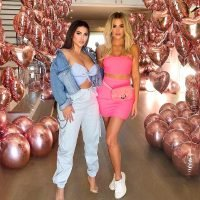 Khloé Kardashian Shows Off Her Post-Baby Body in Hot Pink Ensemble During a Girls' Night