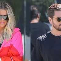 Khloe Kardashian & Scott Disick Spend the Day at Kanye West's Office!