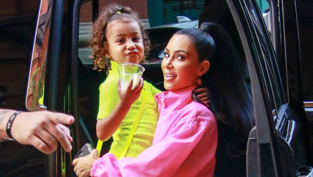 Kim Kardashian Films North West 'Stealing Her Glam Squad' Before 'SNL' — See Pics
