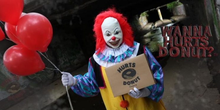 You Can Hire a Scary Clown to Deliver Donuts to Your Friends