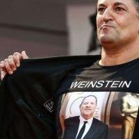 """Italian director wears """"Weinstein is Innocent"""" shirt at Suspiria premiere"""