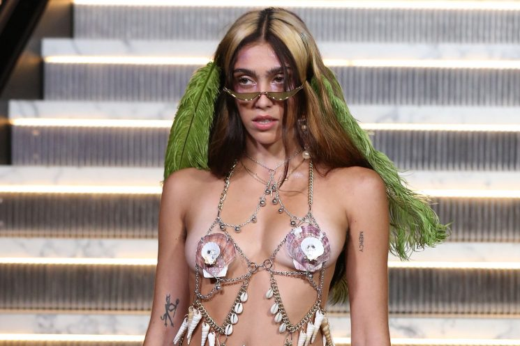 Madonna's daughter makes a risqué runway debut
