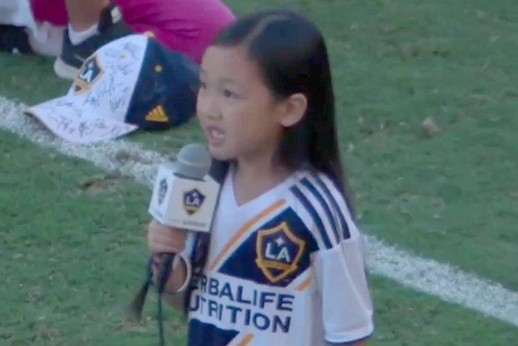 Girl, 7, Wows Crowd with Powerful Version of the National Anthem at MLS Game — Watch