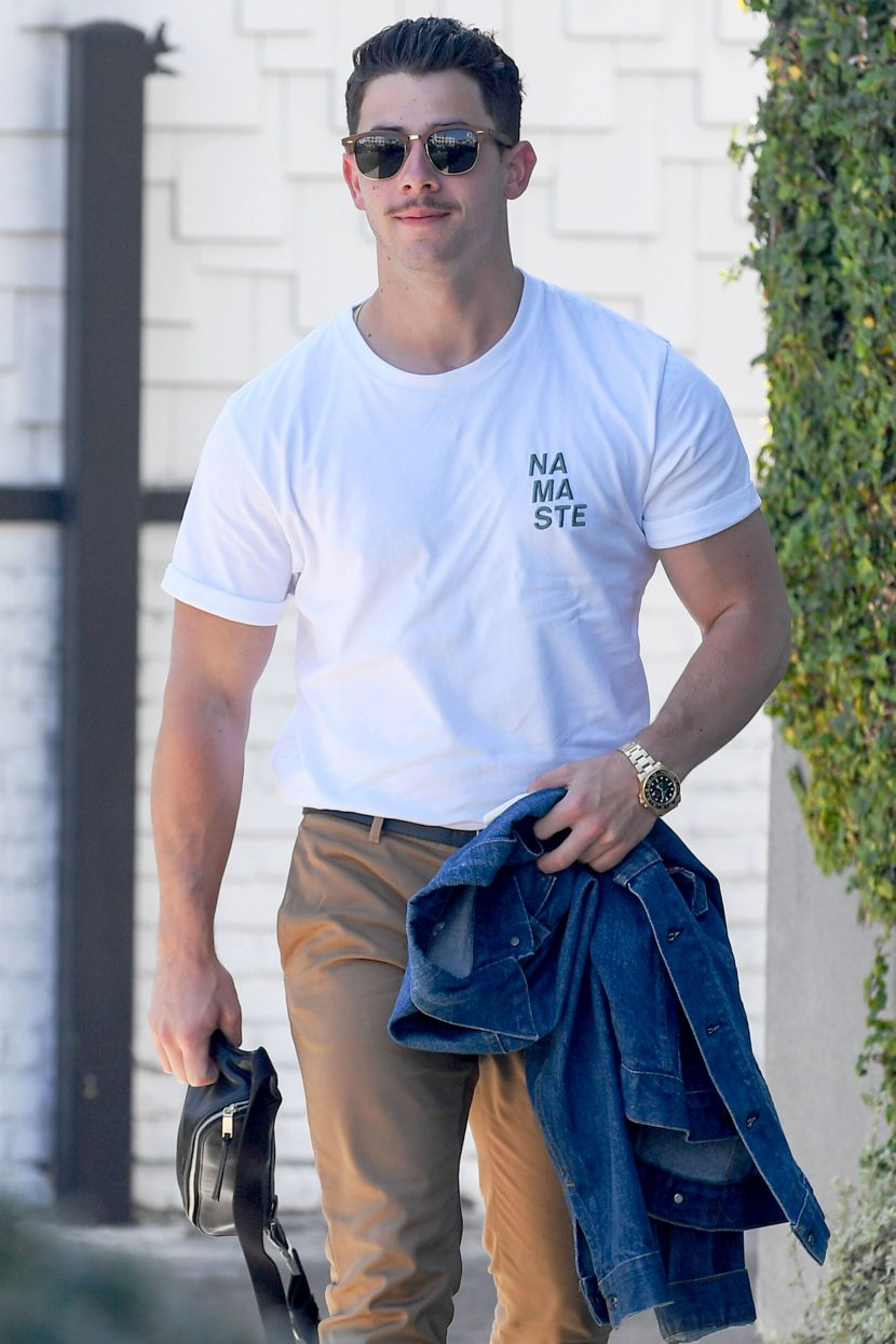 Nick Jonas Shows Off a New Mustache — and Fans Have Strong Feelings About It