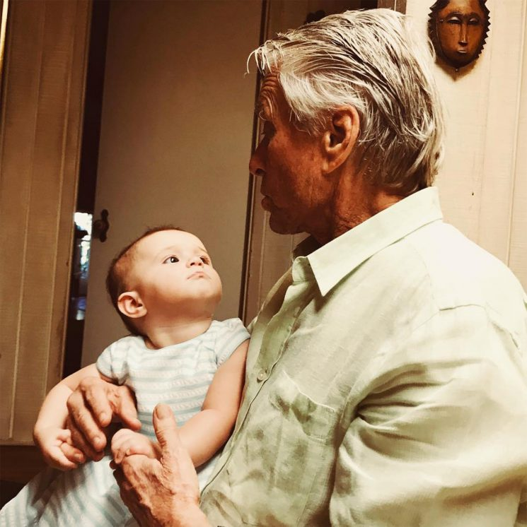 Michael Douglas Sweetly Pouts Alongside His Granddaughter in Cute Photo: 'Lua Loves Her Buba'