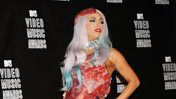 15 Most Outrageous Celeb Outfits Of All-Time: Lady Gaga's Meat Dress & More