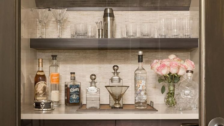 Bar Carts Are Out, & Bar Closets Are In