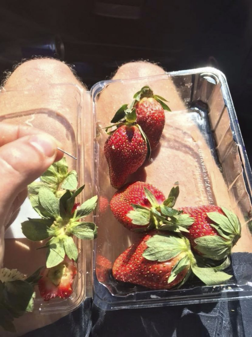 Sewing Needles Found Inside Supermarket Strawberries, Disgruntled Former Employee Suspected