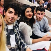 Nick & Joe Jonas Cozy Up To Fiancees Priyanka Chopra & Sophie Turner On US Open Double Date
