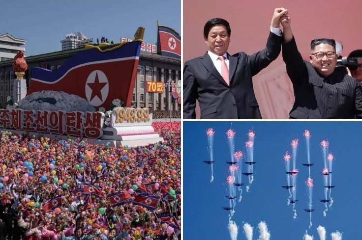 North Korea stages huge military parade WITHOUT ballistic missiles – as regime marks 70th anniversary