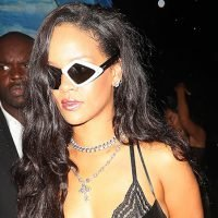 Rihanna Slays In Teeny Black Leather Dress For Party After Turning Heads At Her NYFW Show