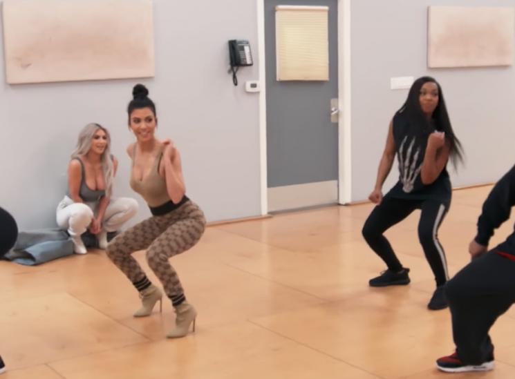 Kourtney Kardashian Tries to Convince 'Notorious Non-Dancer' Kim to Participate in Dance Class