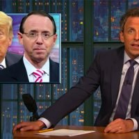 Late-Night Hosts Mock Frantic Cable News Coverage of Rod Rosenstein: 'The Media Can't Help Themselves'