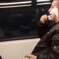NJ Transit rider regrets filming man shaving on train