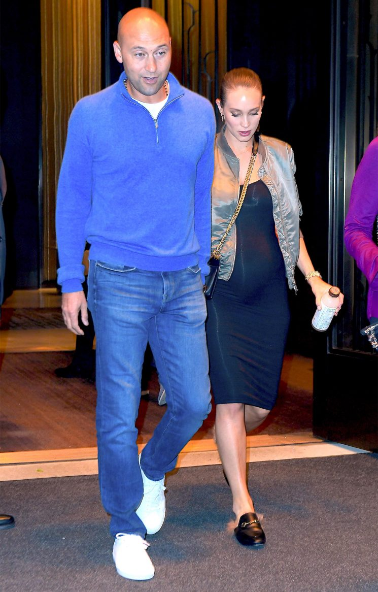 Derek Jeter Teases Baby No. 2 as Wife Hannah Shows Off Baby Bump