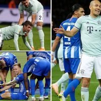 Hertha Berlin 2 Bayern Munich 0: Niko Kovac's side suffer first loss of season after Vedad Ibisevic and Ondrej Duda net first half goals