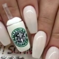Starbucks Coffee Cup Nails, Weird Manicure Trends