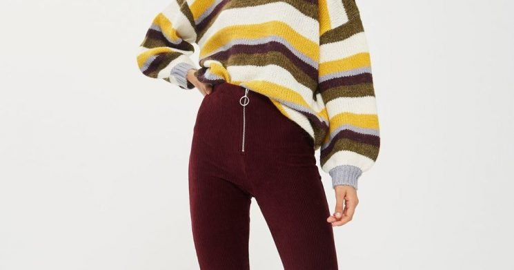 Pull Off Retro Style Like a Boss With These Flare Corduroy Pants
