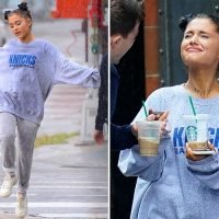 Ariana Grande dances in the rain and grabs coffee with friends as she's seen for the first time since the death of ex-boyfriend Mac Miller