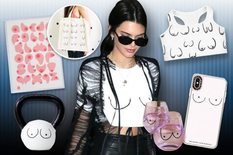 We expose the best of the bust in new booby doodle fashion craze sparked by Kendall Jenner