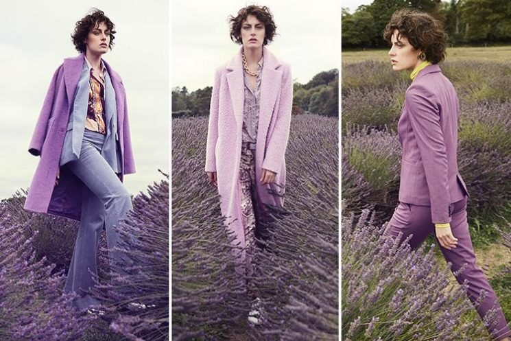 Purple reigns on the high street this season with suits-all shades of lavender