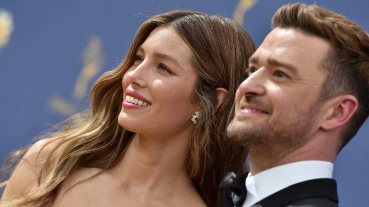 Justin Timberlake & Jessica Biel Flash Secret Message to Son Silas During Emmy Awards