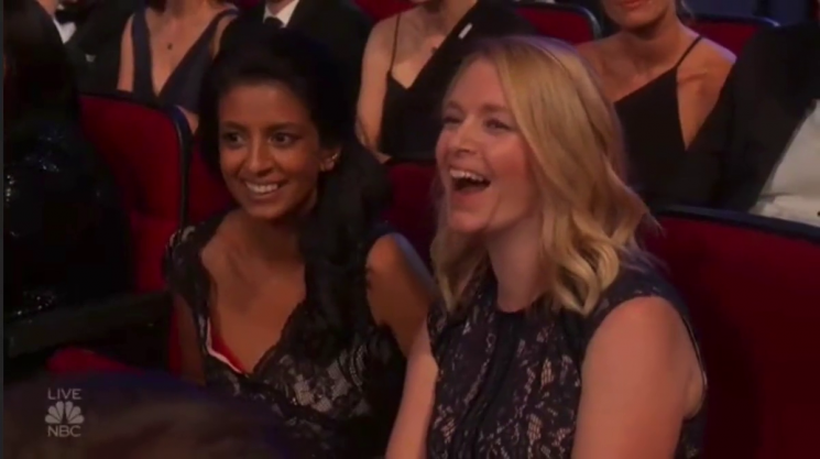 Emmy viewers go wild as they spot Blue Peter legend Konnie Huq at the ceremony