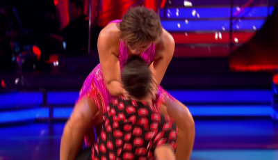 Strictly Come Dancing fans go wild as Kate Silverton kisses Aljaz Skorjanec during sexy first dance