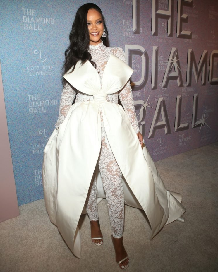 Rihanna in lace Alexis Mabille at her Diamond Ball fundraiser: stunning or no?