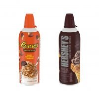 Hershey's Milk Chocolate and Reese's Peanut Butter Cup Whipped Cream Cans Are Here to Make Your Day Even Sweeter
