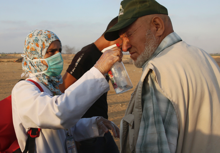 At Gaza protests, medical workers face great danger