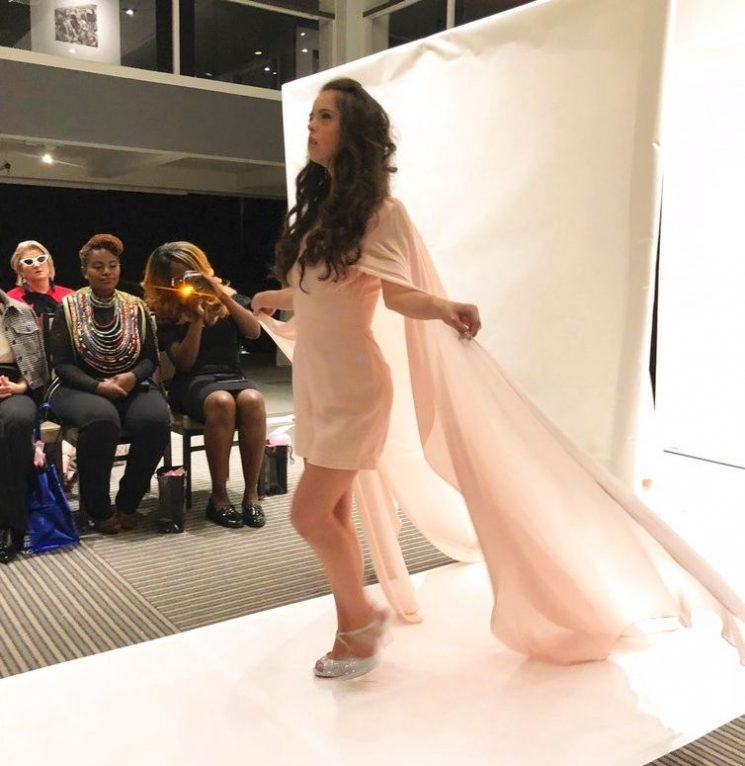 Model with Down syndrome walks runway at New York Fashion Week