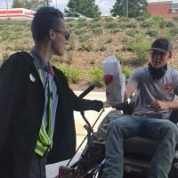 Maryland Chick-fil-A restaurant serves customer on riding lawn mower in drive-thru