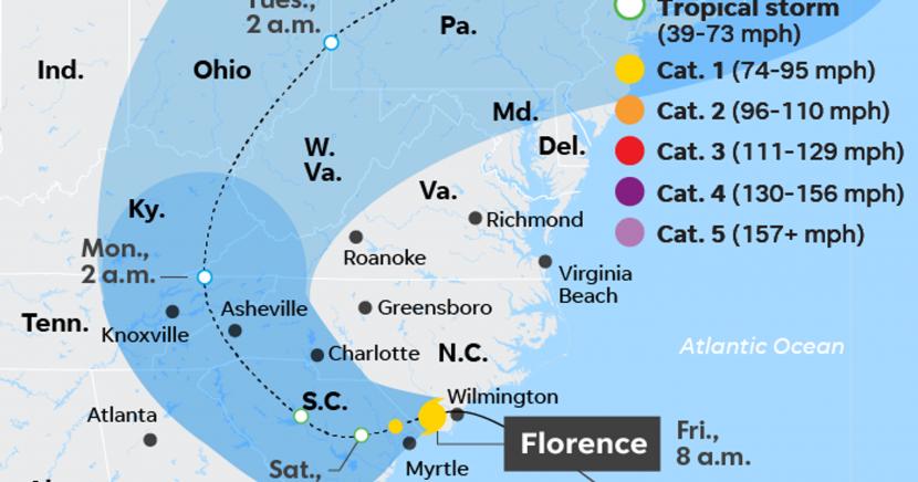 Hurricane Florence: Royal Caribbean ship delays return to Baltimore to avoid storm