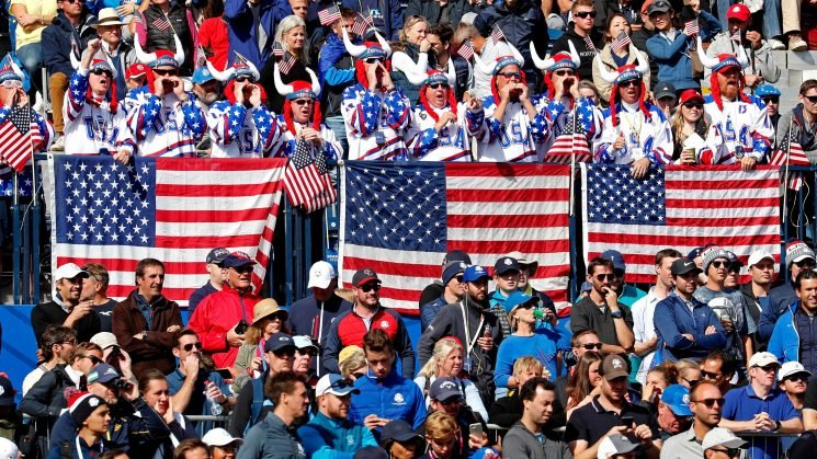 Team USA fans fight to be heard at Ryder Cup amid European roars