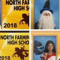 High school seniors recreate pop culture moments in student ID photos