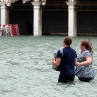 Monster high tide leaves three quarters of Venice underwater