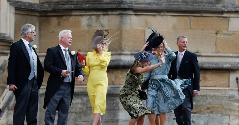 Storm Callum causes Royal Wedding chaos as guests struggle with the wind
