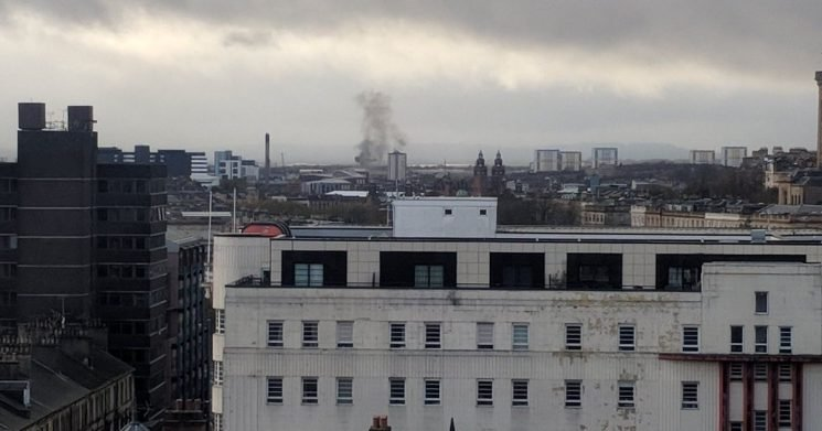 'Explosion' rocks buildings in Glasgow and smoke seen drifting across city
