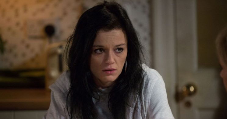 EastEnders agony as desperate Hayley Slater goes to jump from a balcony