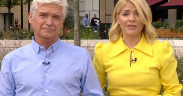This Morning's Phil and Holly suffer awkward mic malfunction during birthday fun