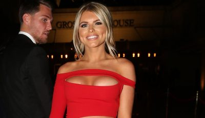 Love Island's Hayley Hughes show off her figure in racy red dress
