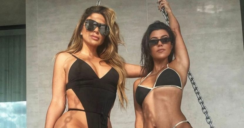 Kourtney Kardashian shows off impressive bikini body after firing back at fan