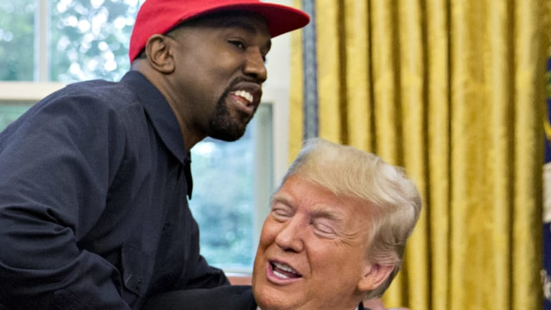 Kanye West drops F-bomb with President Donald Trump