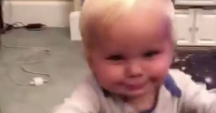 Toddler tries to steal mum's glass of wine – and her reaction is so relatable