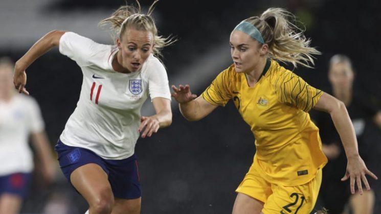 Lucky Matildas scramble draw with England
