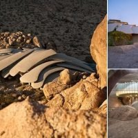 The supervillain lair-style home built around boulders in California