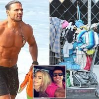 Baywatch star enjoys the good life while ex-wife digs through trash