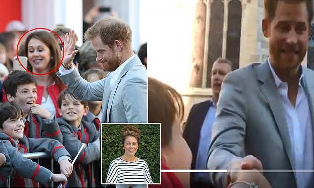 Teacher who grabbed Prince Harry's hand forcing him to beg 'let go'