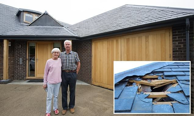 Couple arrive home from holiday to find gaping hole in their roof